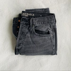 american eagle hi rise girlfriend jeans